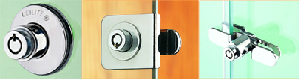 Glass cabinet locks