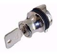 display cabinet lock for hinged doors